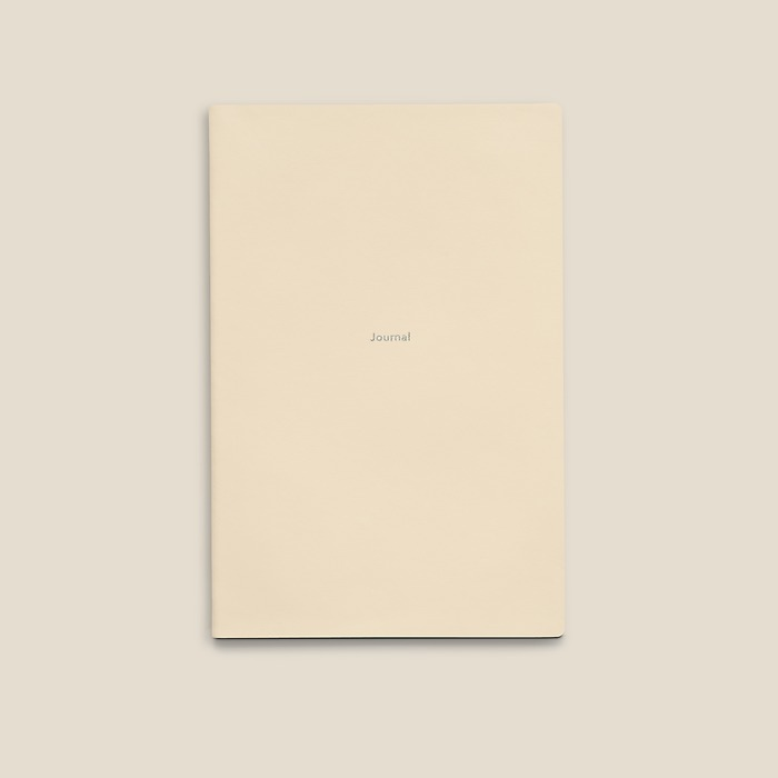 Notebook Journal M ruled White Truffle
