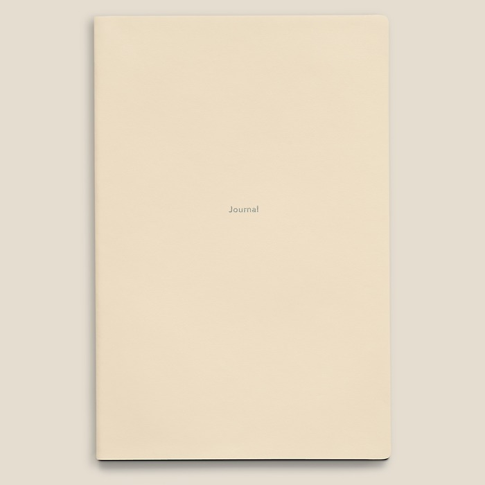 Notebook Journal L ruled White Truffle