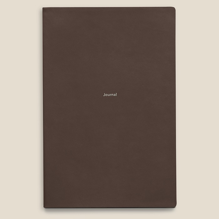 Notebook Journal L plain French Roast