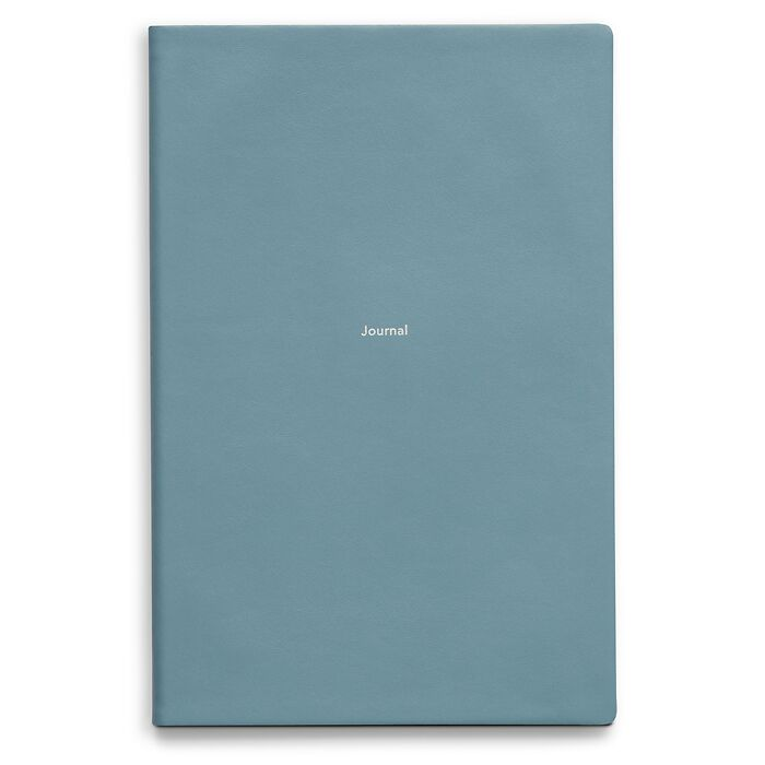 Journal L Notizbuch blanko Pigeon Blue