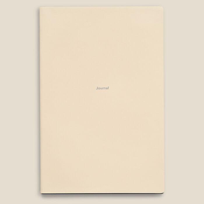 Notebook Journal L plain White Truffle