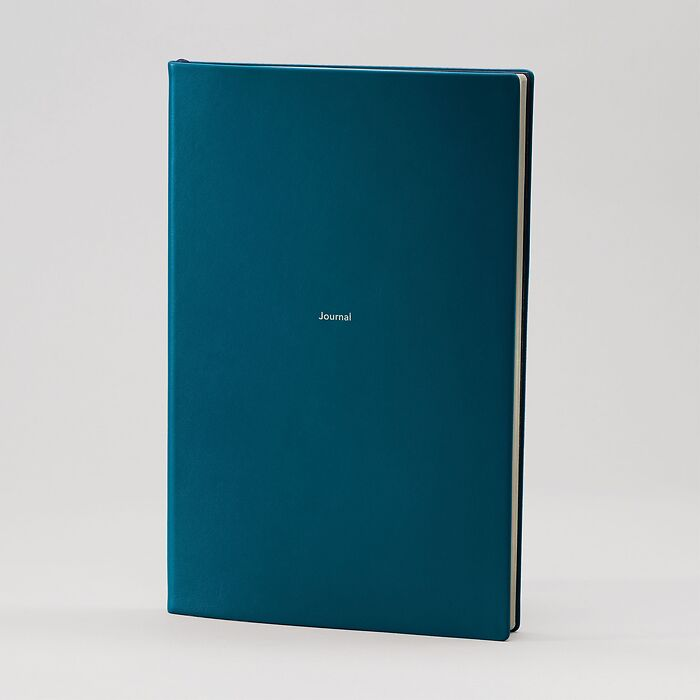 Journal L Notizbuch blanko Petrol Green