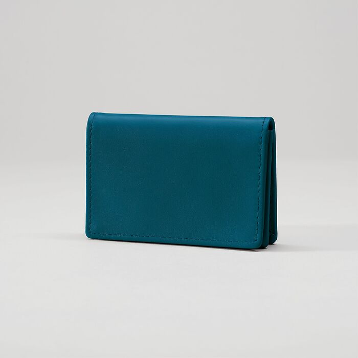 Business Card Caddy Petrol Green