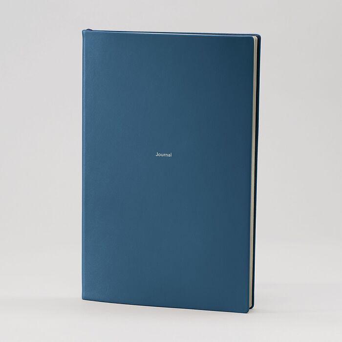 Journal L Notizbuch blanko Prussian Blue