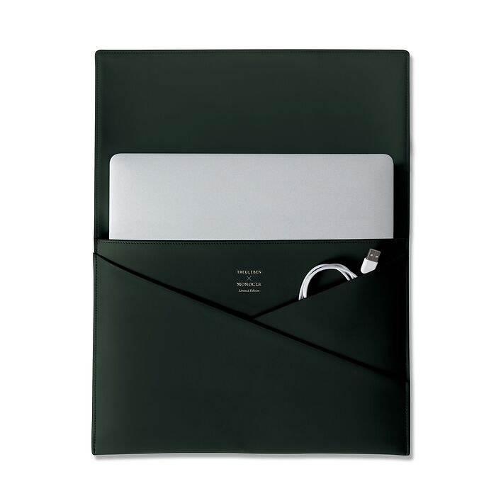Treuleben X Monocle Laptop Cache Green